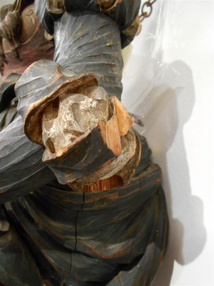 German Carved Figural Wall Bracket