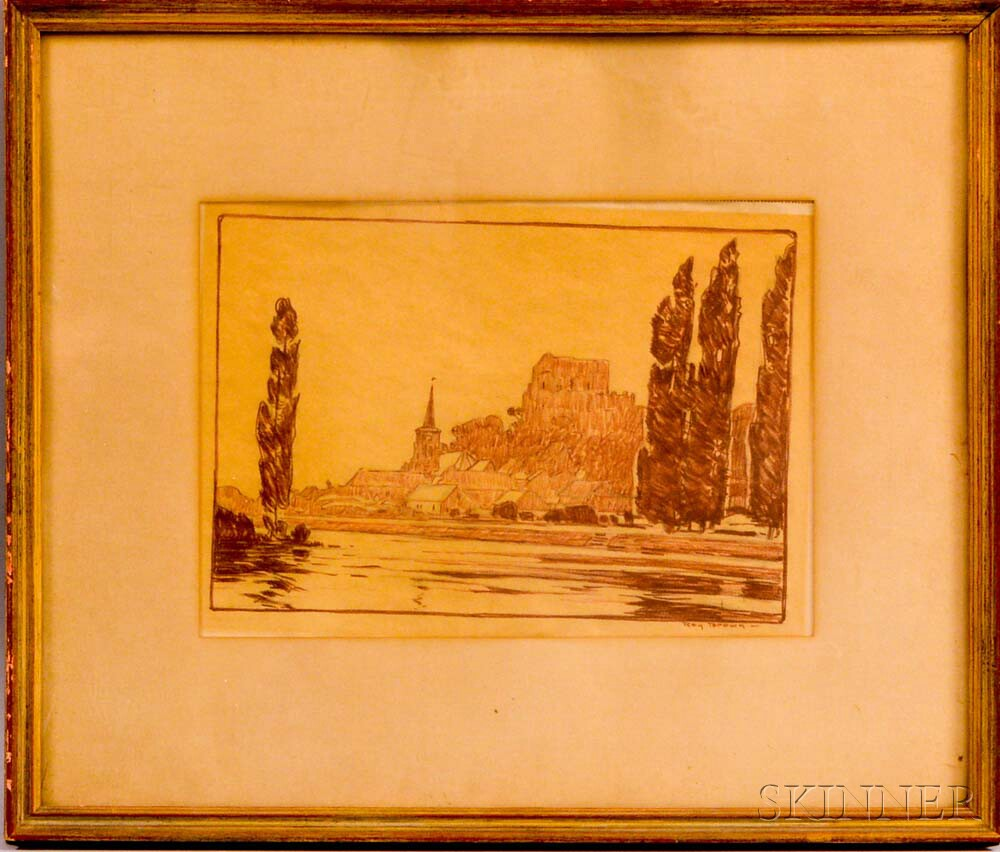 Roy Henry Brown (American, 1879-1956)      Landscape