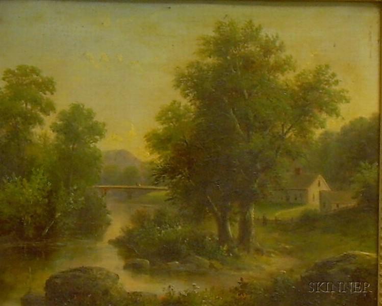Framed Oil on Canvas of a Pastoral Scene