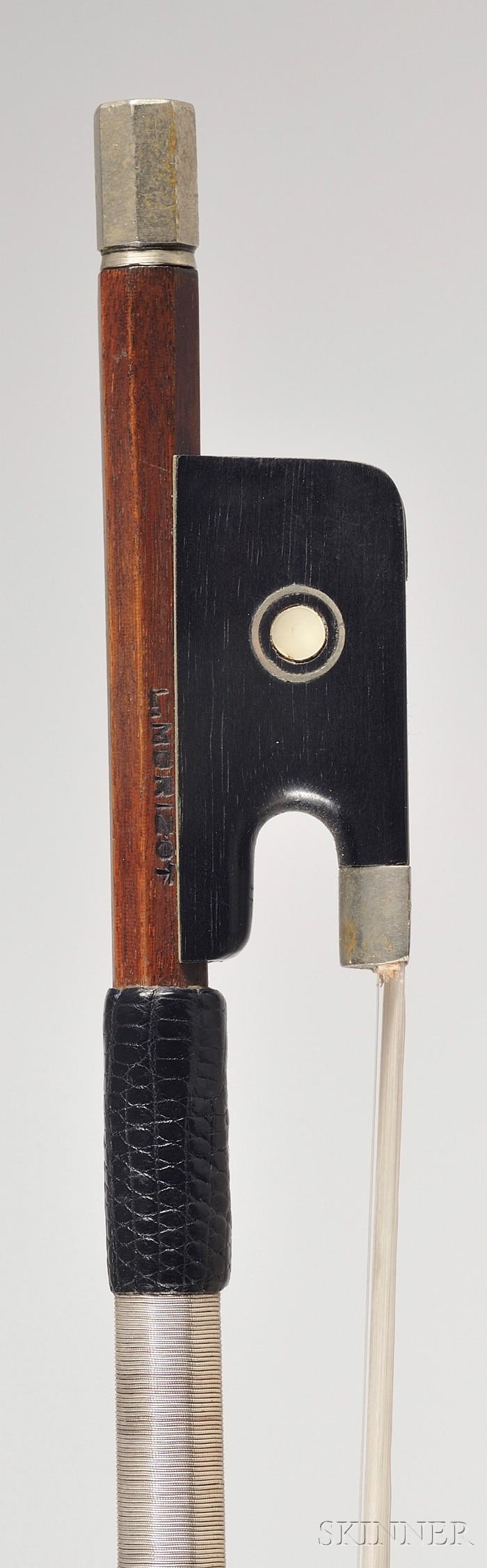 French Nickel Mounted Violin Bow, Morizot Freres