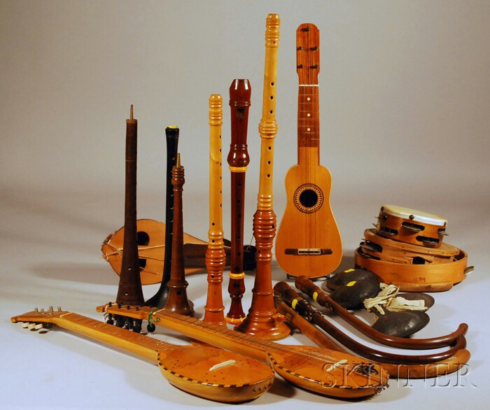 Assorted Early Musical Instruments