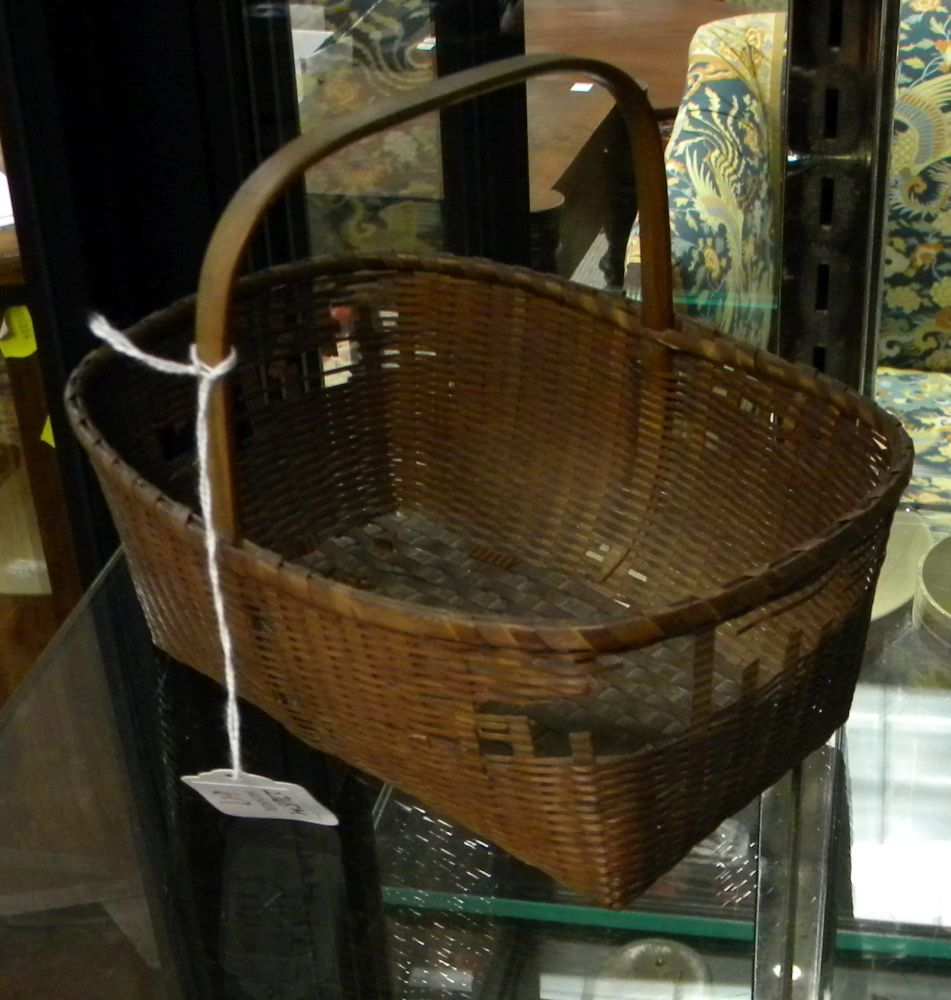 Shaker Small Fancy Woven Splint Basket