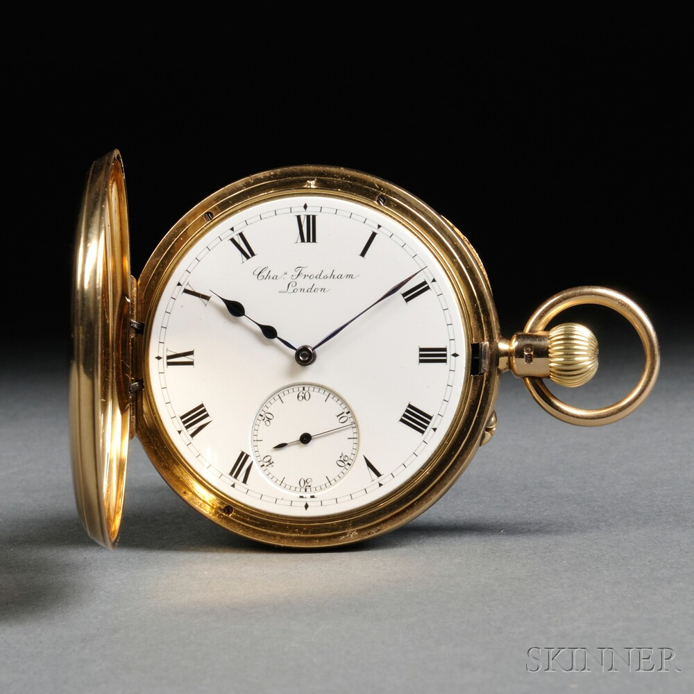 Charles Frodsham 18kt Gold Demi Hunting Case Watch