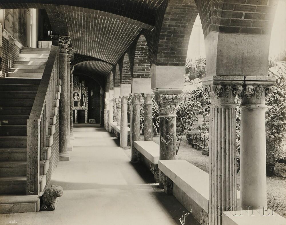 Thomas E. Marr & Son (American, fl. 1890s-1920s)      Five Interior Views of the Isabella Stewart Gardner Museum