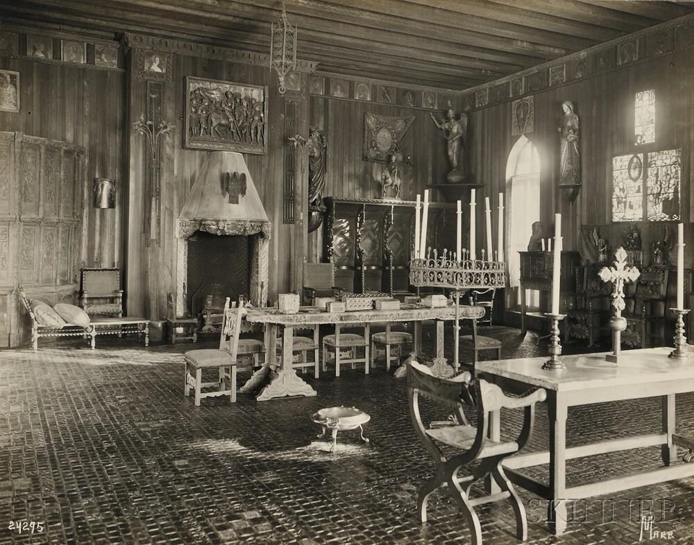 1890s-1920s) Five Interior Views of the Isabella Stewart Gardner Museum