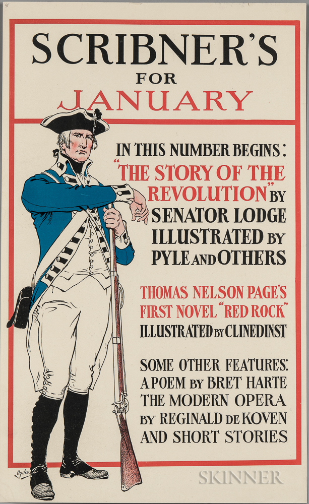 Ogden, Henry Alexander (1856-1936) Scribner's for January   [1898] The Story of The Revolution by Henry Cabot Lodge.