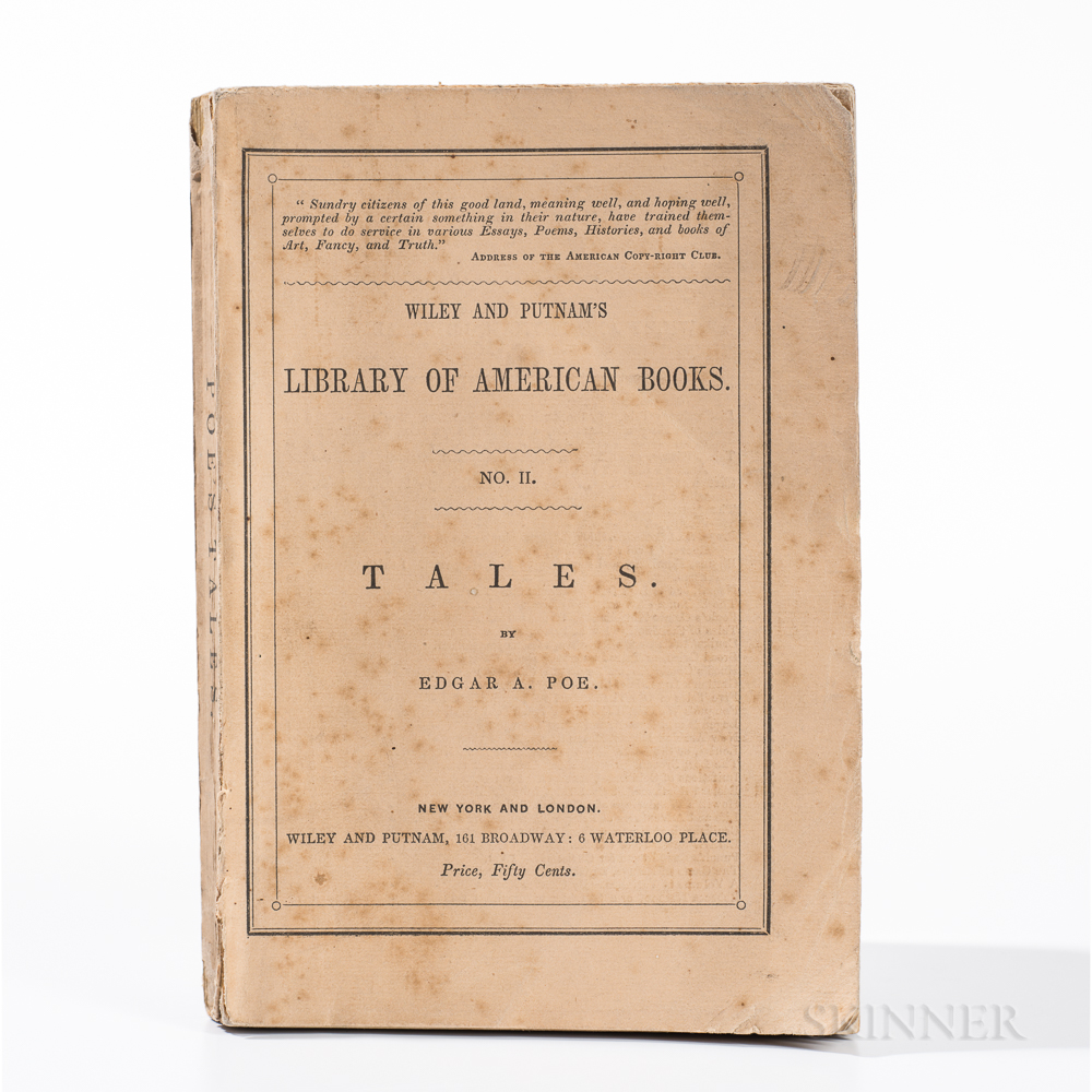 Poe, Edgar Allan (1809-1849) Tales  , First Edition, in Paper Wrappers.
