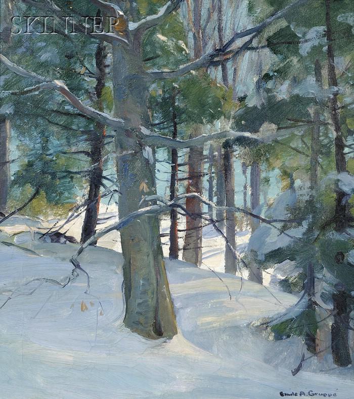 Emile Albert Gruppé (American, 1896-1978)      Wood Interior
