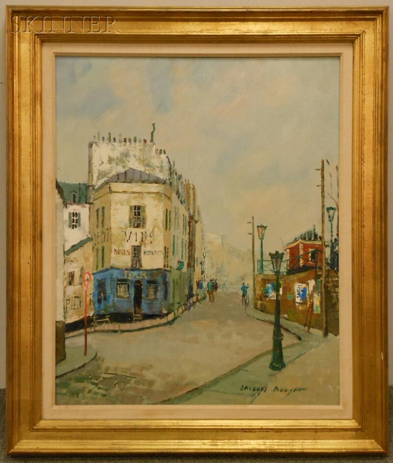 Jacques Bouyssou (French, 1926-1997)      Paris le bar bleu
