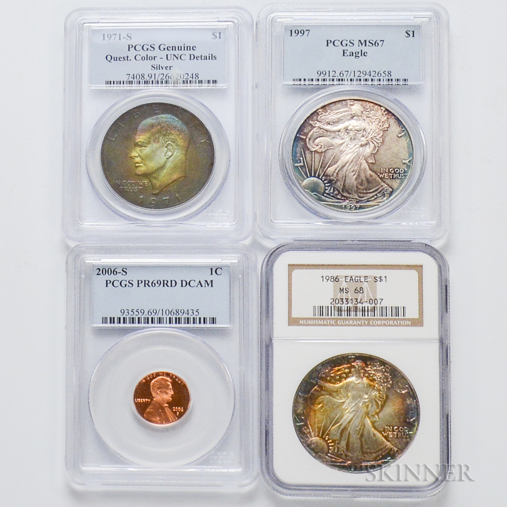 Four Graded Coins