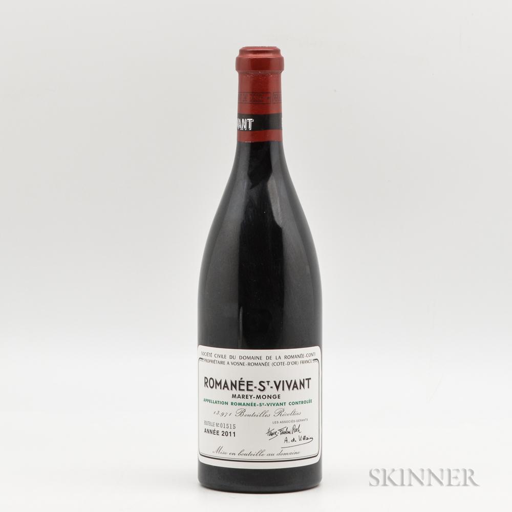 Domaine de la Romanee Conti Romanee St. Vivant 2011, 1 bottle