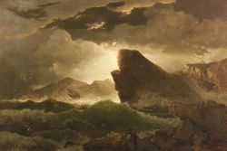 William Trost Richards (American, 1833-1905)  Preparing for the Storm