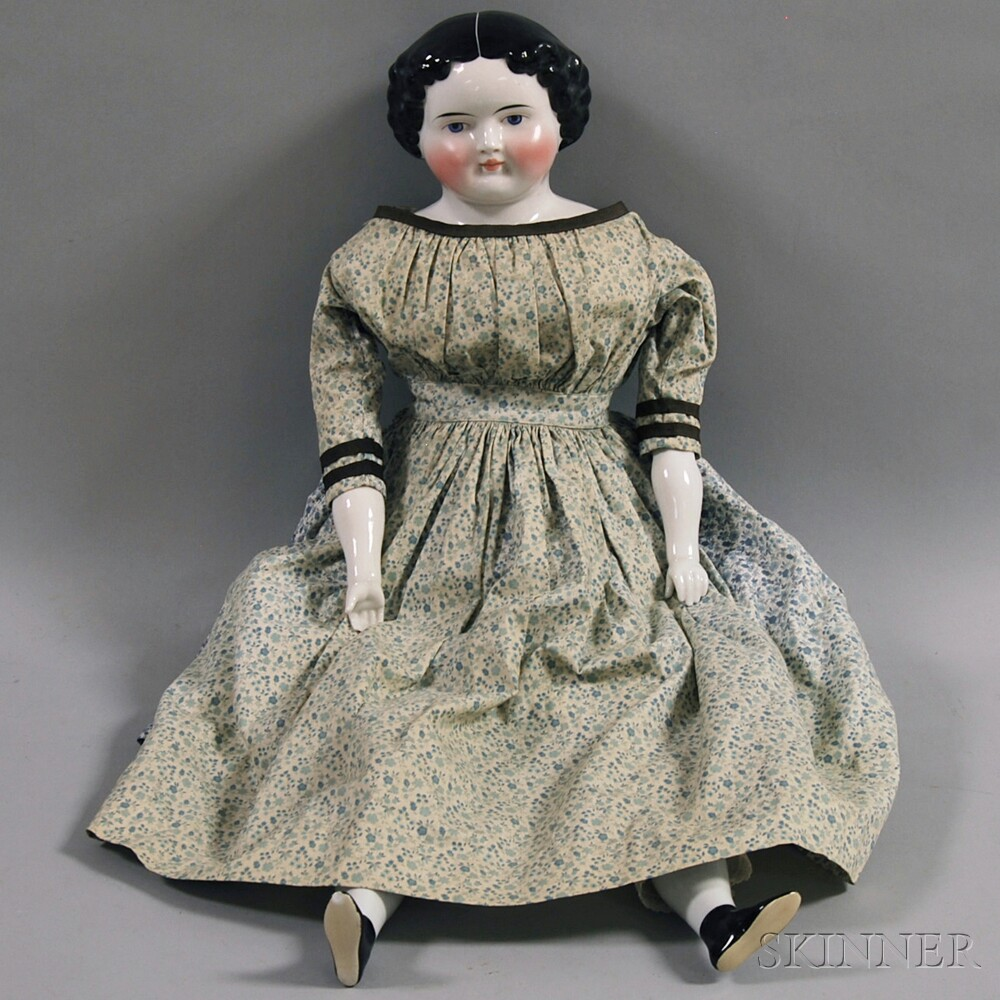 Large China Shoulder Head Doll