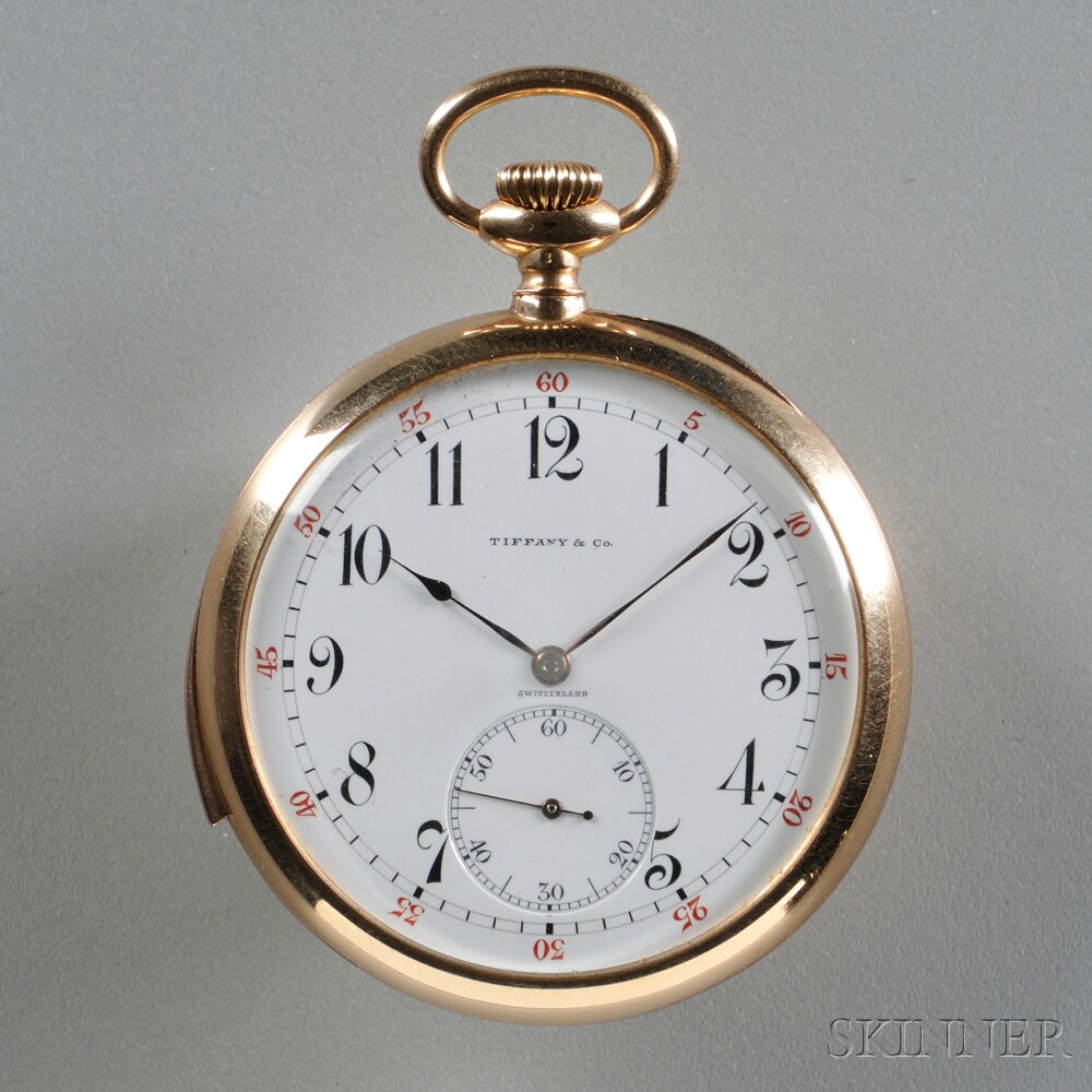 Tiffany & Company 18kt Gold Open Face Minute-repeater