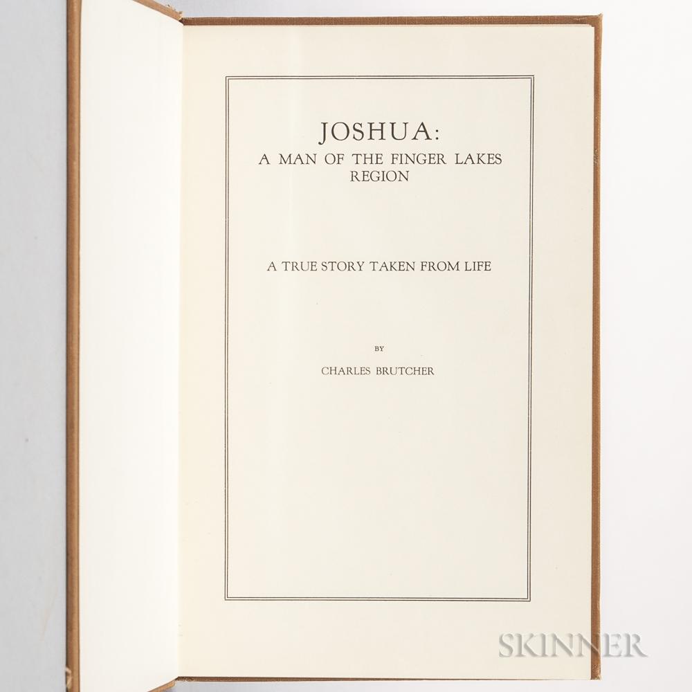 Brutcher, Charles (1869-1940) Joshua: a Man of the Finger Lakes Region.