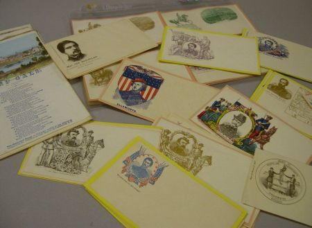 Forty-two Civil War Era Printed Envelopes Depicting U.S. City, Military, Political, Historical, and Patriotic Images and Five Illustrat