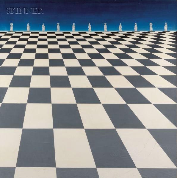 Marina Stern (American, b. 1928)      The Chess Game