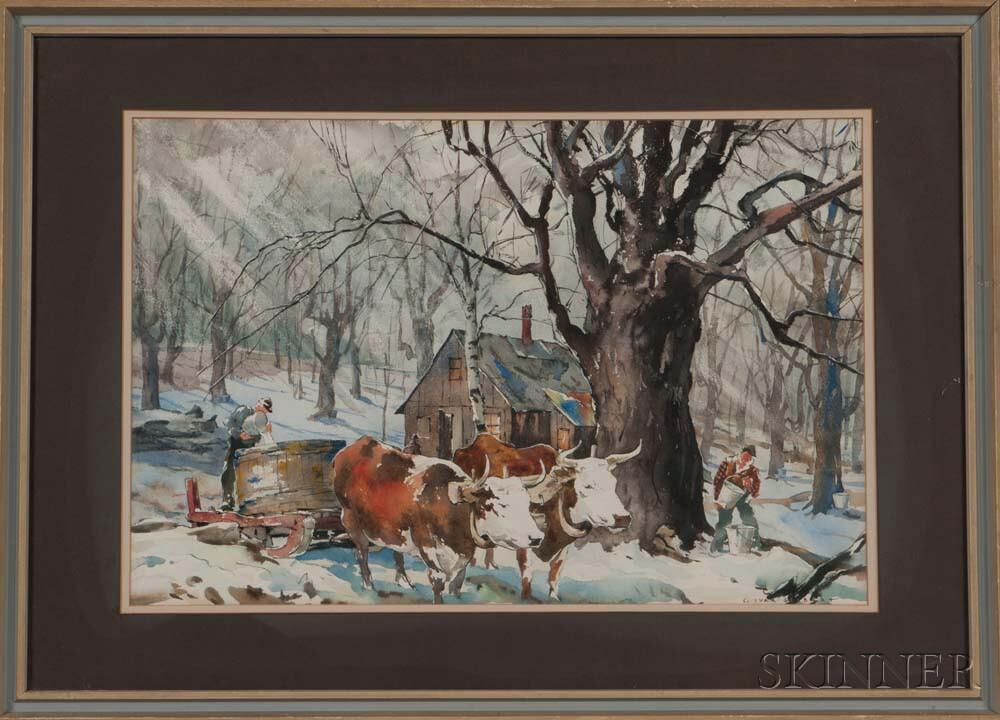 Carl Gilbert (American, 1882-1959)    Maple Sugaring