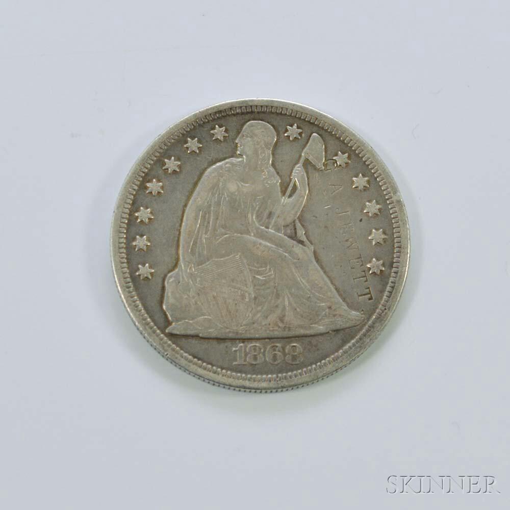1868 Seated Liberty Dollar