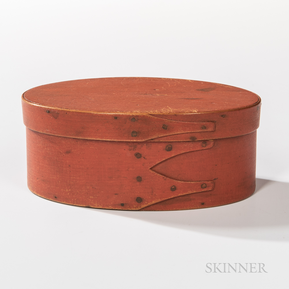 Shaker Bittersweet-painted Three-finger Oval Pantry Box