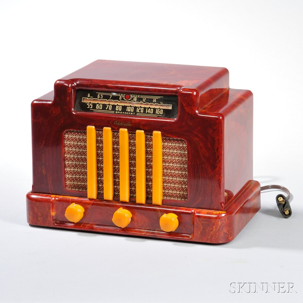 Addison Model 5D Catalin Table Radio