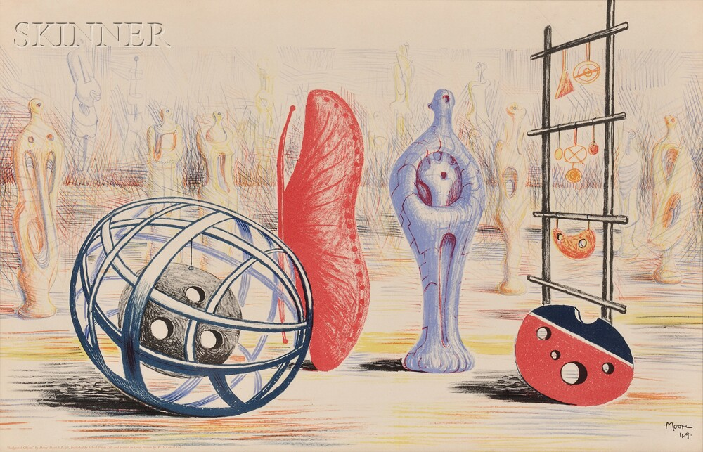 Henry Moore (British, 1898-1986)      Sculptural Objects