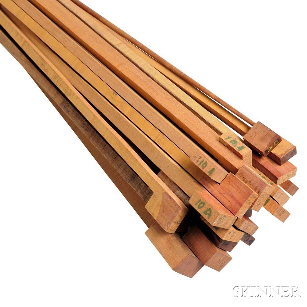 Thirty Pernambuco Bow Blanks