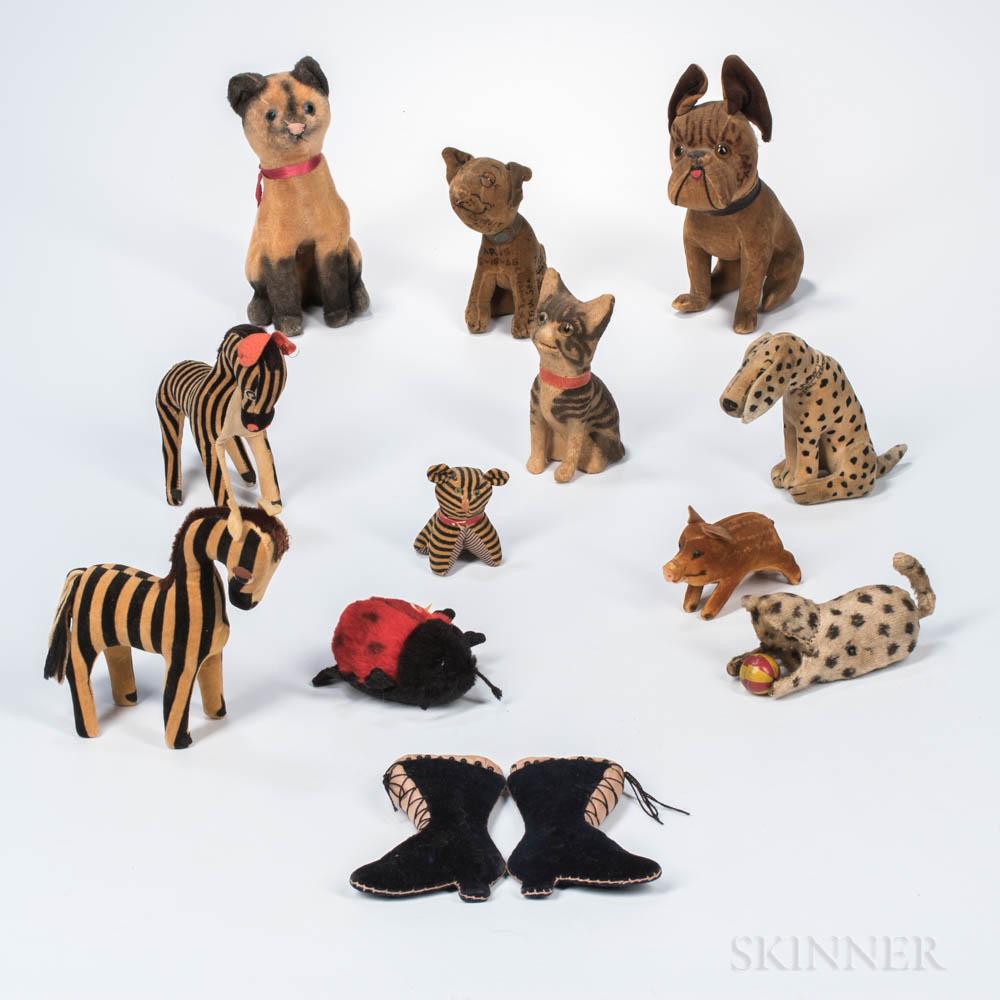 Twelve Felt Animals