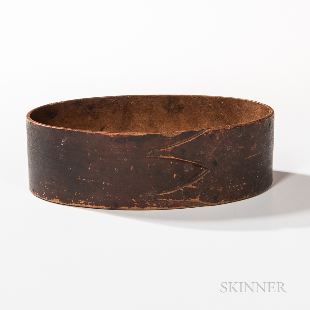 Shaker Brown-painted Oval Pantry Box