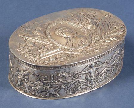 French Silver Benjamin Franklin Jewel Box