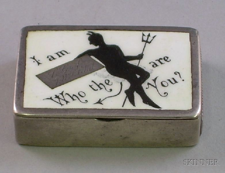 Whimsical Horton & Allday Sterling Silver and Enamel Match Safe