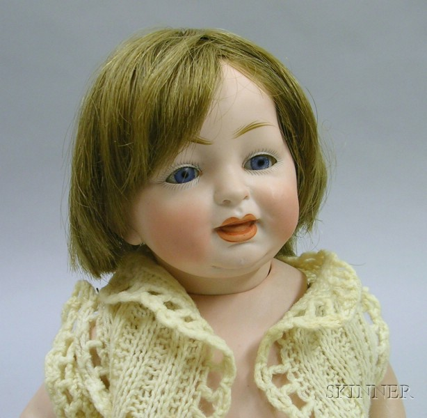Large Kestner All-Bisque Character Baby Doll