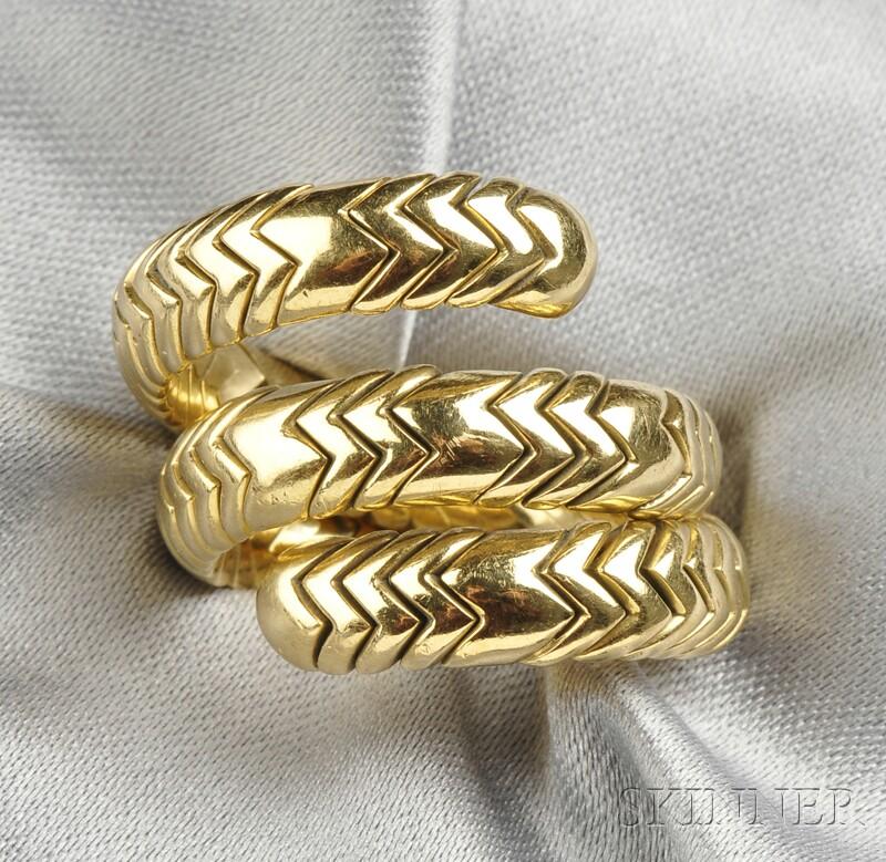 """18kt Gold """"Spiga"""" Ring, Bulgari"""