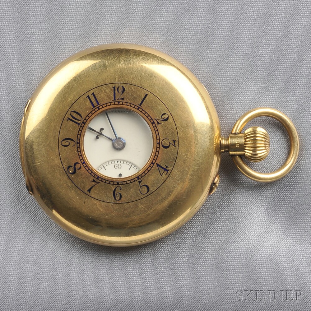 Antique 18kt Gold Demi-Hunting Case Pocket Watch, Russells Limited