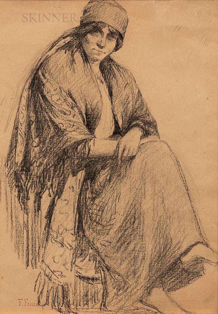 Felix Fossey (French, 1826-1895)      Seated Figure