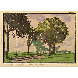 Margaret Jordan Patterson (American, 1867-1950)  Gloucester - Stage Fort Park Road.