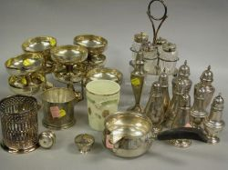 Twenty-two Pieces of Sterling and Plated Tablewares