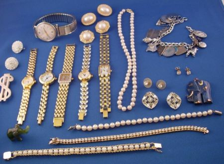 Group of Miscellaneous Costume and Other Jewelry