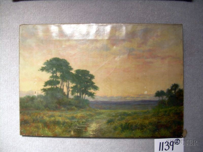 Lot of Two American School Oil on Canvas Views