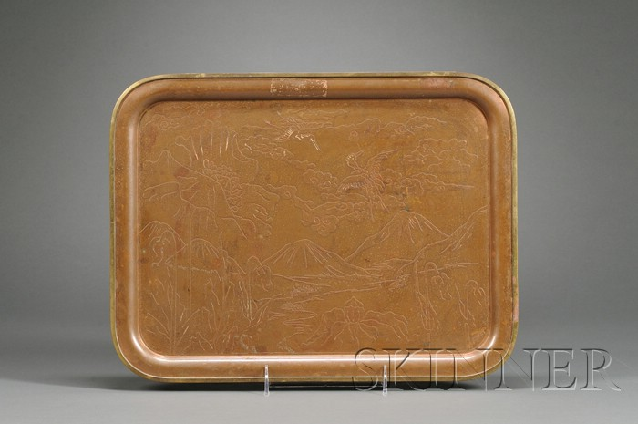 Copper and Brass Tray