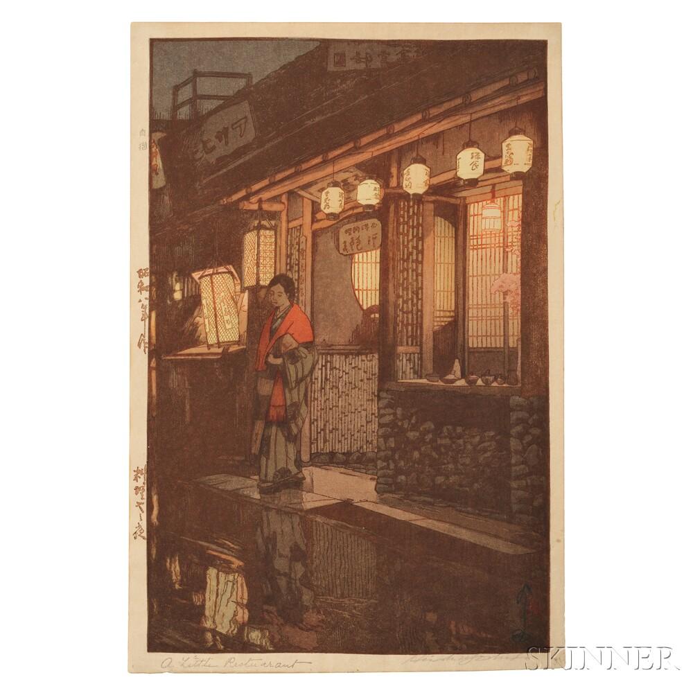 Hiroshi Yoshida (1876-1950), A Little Restaurant