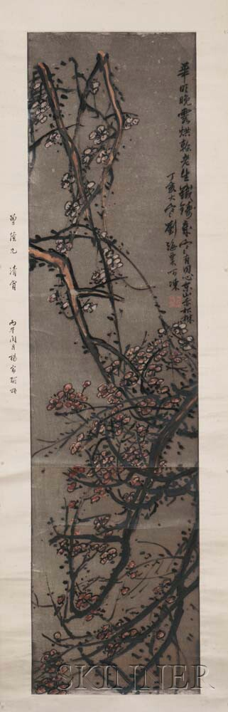 Hanging Scroll Depicting Blooming Plum Branches
