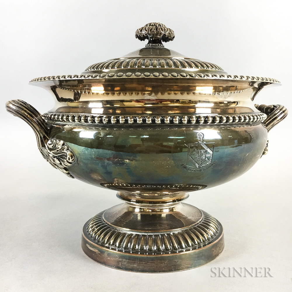 Silver-plated Lidded Footed Tureen