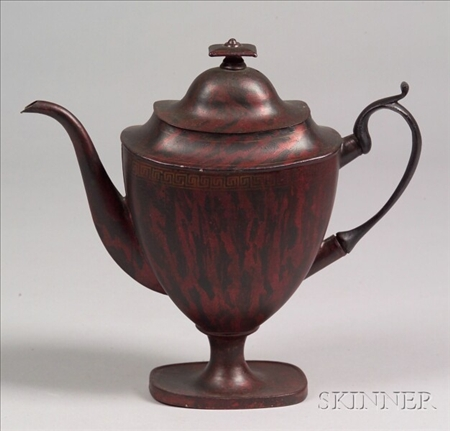 Painted Tinware Teapot