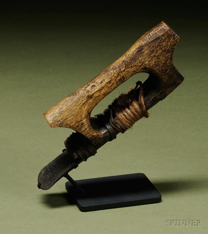 Eskimo Carved Bone Adze Sale Number 2442 Lot Number 228 Skinner Auctioneers