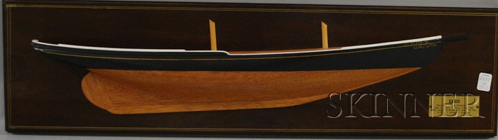 Wooden Half-hull Model of the Gloucester Fishing Schooner Esie
