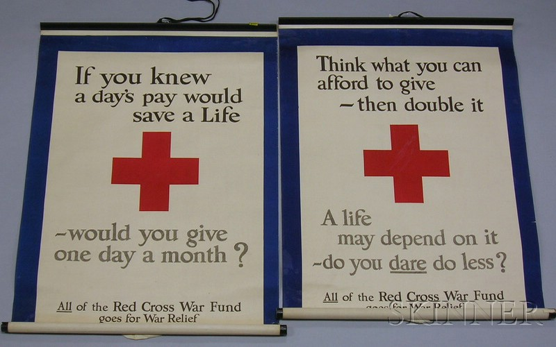Ten Wwi Lithograph Red Cross Posters Sale Number 2478 Lot Number