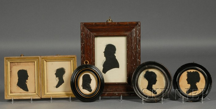 Six Framed Hollow-cut Silhouettes