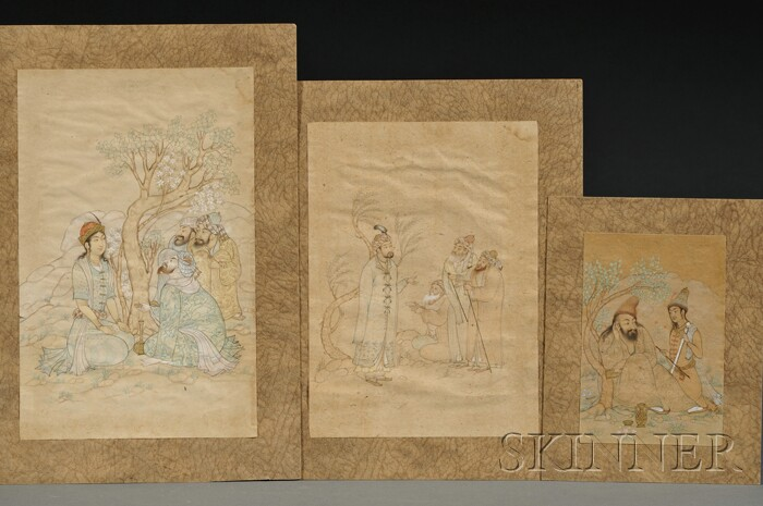 Three Unmounted Persian Paintings