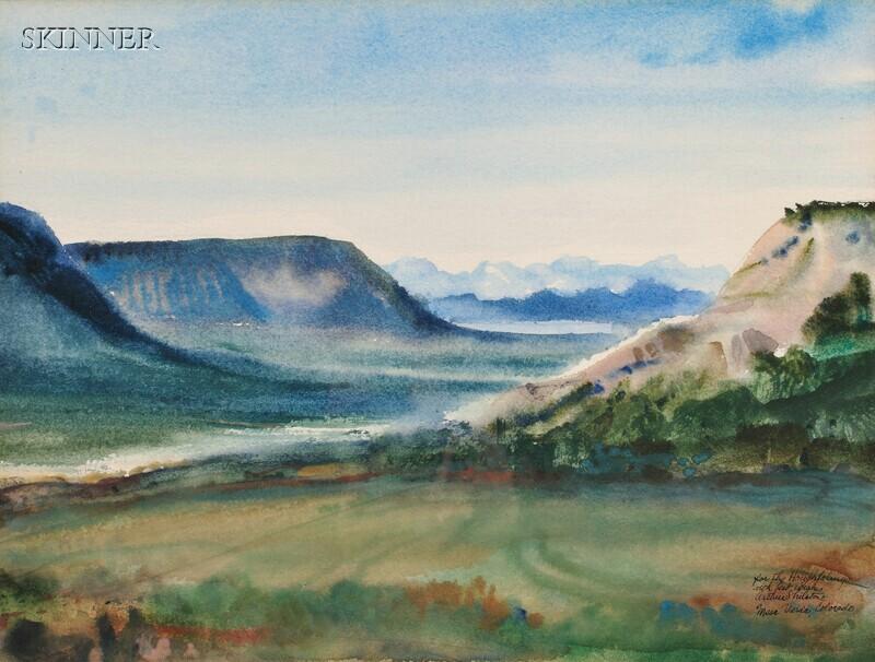 Arthur Shilstone (American, b. 1922)    View of Mesa Verde, Colorado.